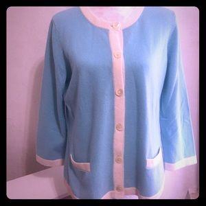 Tiffany Blue Knit Cashmere Sweater